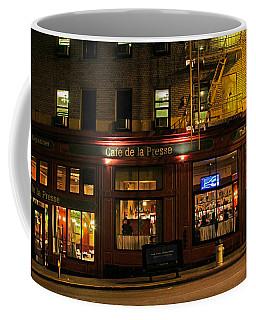 Cafe De La Presse On Bush St Coffee Mug