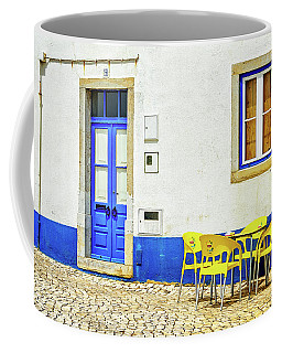 Cafe In Portugal Coffee Mug by Marion McCristall