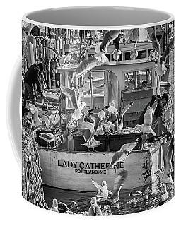 Cafe Lady Catherine Black And White Coffee Mug
