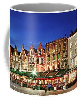 Cafes And Restaurants On Markt Square - Bruges Coffee Mug