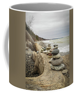 Cairn On The Beach Coffee Mug