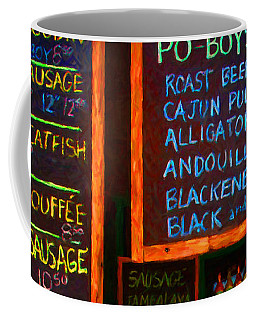Cajun Menu Alligator Sausage Poboy - 20130119 Coffee Mug
