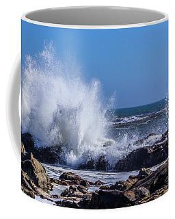 Wave Crashing On California Coast Coffee Mug