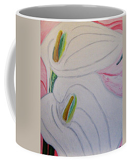 Coffee Mug featuring the painting Cala Lillies by Barbara Yearty