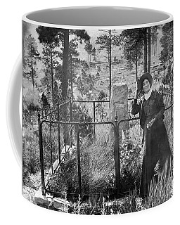 Coffee Mug featuring the photograph Calamity Jane At Wild Bill Hickok's Grave 1903 by Daniel Hagerman