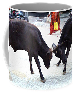 Calf Fighting Coffee Mug