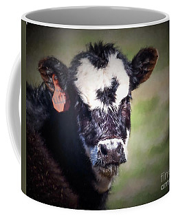 Coffee Mug featuring the photograph Calf Number 444 by Laurinda Bowling