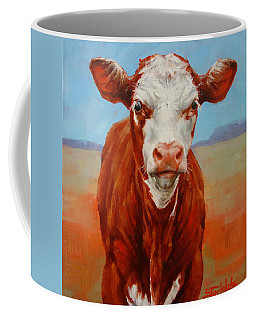 Calf Stare Coffee Mug by Margaret Stockdale