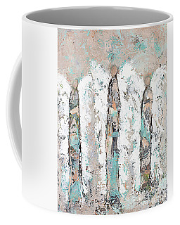 Calico Angel Trio Coffee Mug by Kirsten Reed