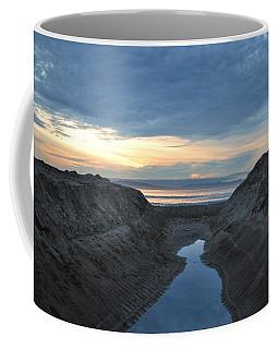 California Beach Stream At Sunset - Alt View Coffee Mug