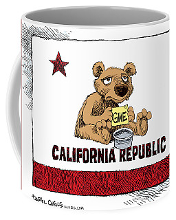 California Budget Begging Coffee Mug