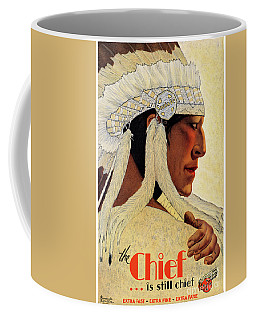 California Chief Restored Vintage Travel Poster Coffee Mug by Carsten Reisinger