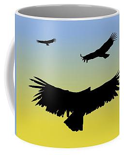 California Condors In Flight Silhouette At Sunrise Coffee Mug