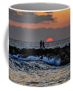 Coffee Mug featuring the photograph California Evening With Sandstone Effect by Howard Bagley