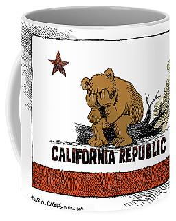 California Fire Bear Grieves Coffee Mug