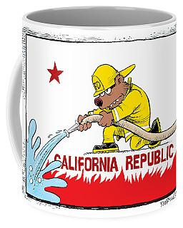 California Firefighter Flag Coffee Mug