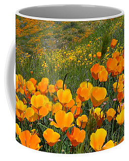 California Golden Poppies And Goldfields Coffee Mug by Glenn McCarthy