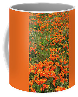 Coffee Mug featuring the mixed media California Poppies- Art By Linda Woods by Linda Woods