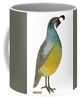 California Quail Posing Coffee Mug