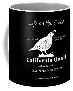 California Quail - White Graphics Coffee Mug