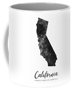 California State Map Art - Grunge Silhouette Coffee Mug