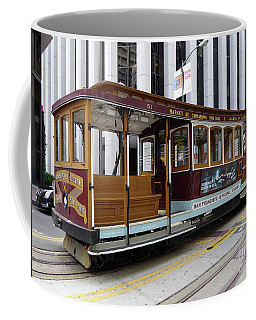 Coffee Mug featuring the photograph California Street Cable Car by Steven Spak