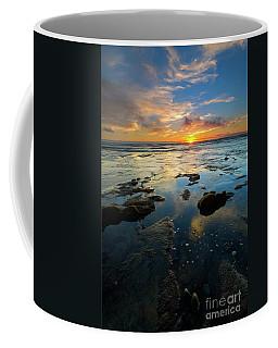 Coffee Mug featuring the photograph California Tidepool Sunset by Mike Dawson
