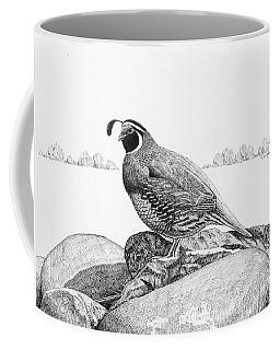 California Valley Quail Coffee Mug