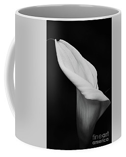 Coffee Mug featuring the photograph Calla Lily In Black And White by Cindy Manero