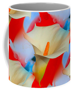 Splashy Calla Lilies Coffee Mug