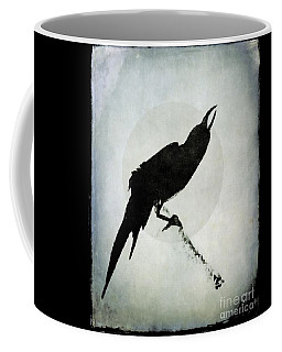 Coffee Mug featuring the mixed media Calling To The Moon by Patricia Strand