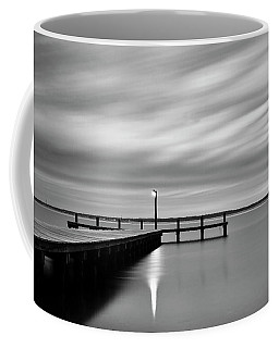 Calm Barnegat Bay New Jersey Black And White Coffee Mug