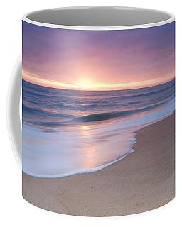 Calm Beach Waves During Sunset Coffee Mug