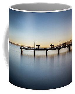 Calm Morning At The Pier Coffee Mug