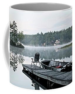 Calm Morning On Little Sebago Lake Coffee Mug