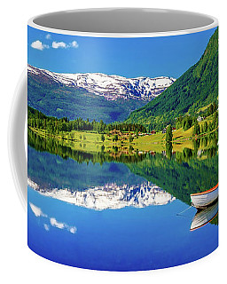 Coffee Mug featuring the photograph Calm Morning On Lonavatnet by Dmytro Korol