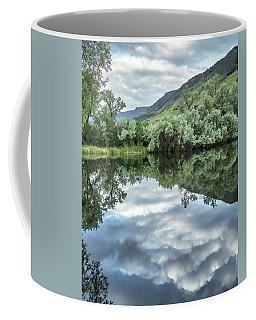 Calm Pond - Cloud Reflections Coffee Mug