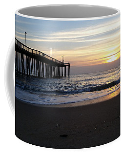 Coffee Mug featuring the photograph Calm Seas At Sunrise by Robert Banach