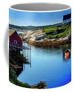 Calm Water At Peggys Cove #3 Coffee Mug by Ken Morris