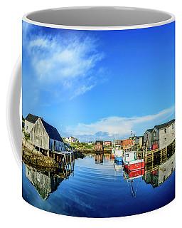 Calm Water At Peggys Cove Coffee Mug by Ken Morris