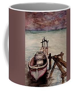Coffee Mug featuring the painting Calm Waters by Lil Taylor