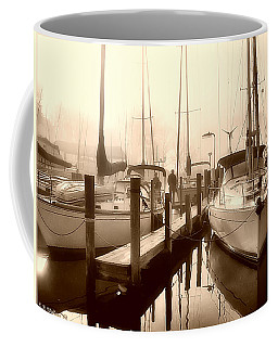 Coffee Mug featuring the photograph Calmly Docked by Brian Wallace