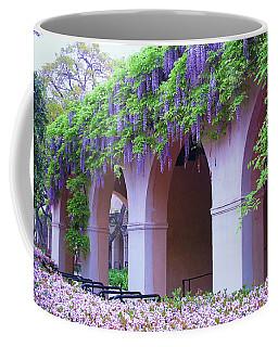 Coffee Mug featuring the photograph Caltech Wisteria by Ram Vasudev