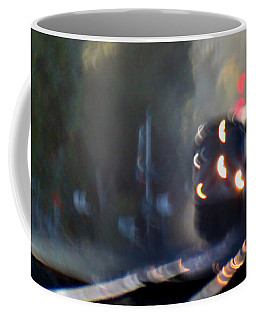 Caltrain Locomotive Shaking On The Move Coffee Mug