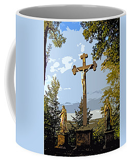 Coffee Mug featuring the photograph Calvary Group - Parkstein by Juergen Weiss