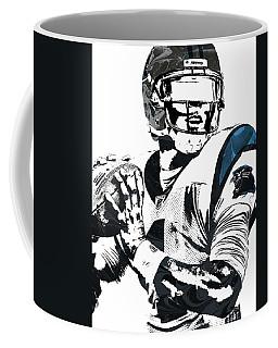 Coffee Mug featuring the mixed media Cam Newton Carolina Panthers Pixel Art 3 by Joe Hamilton