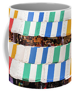 Cambridge Market Stripes Coffee Mug by David Warrington