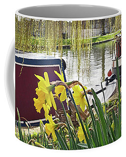 Coffee Mug featuring the photograph Cambridge Riverbank In Spring by Gill Billington