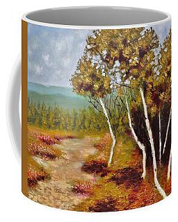 Camel Top Birches Coffee Mug