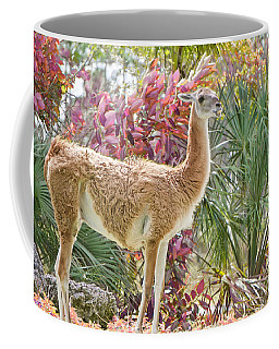 Coffee Mug featuring the painting Camelid Portrait Edition 2 by Judy Kay